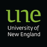 The University of New England logo